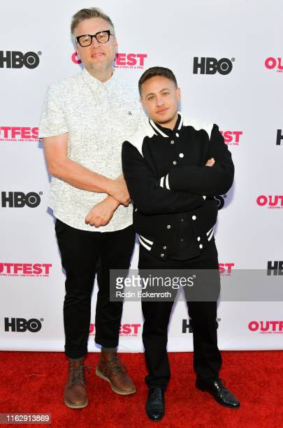 Michael Barnett and Alex Schmider attend the Outfest Los Angeles LGBTQ Film Festival Opening Night Gala premiere of Circus Of Books at Orpheum...