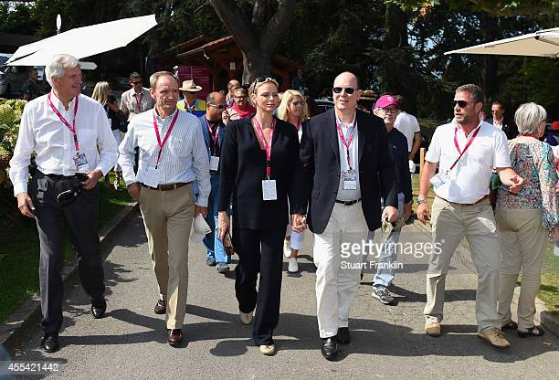 Michael Barnier Vice President of the European Commission Jean Claude Killy former french skier Princess Charlene of Monaco Prince Albert II of...