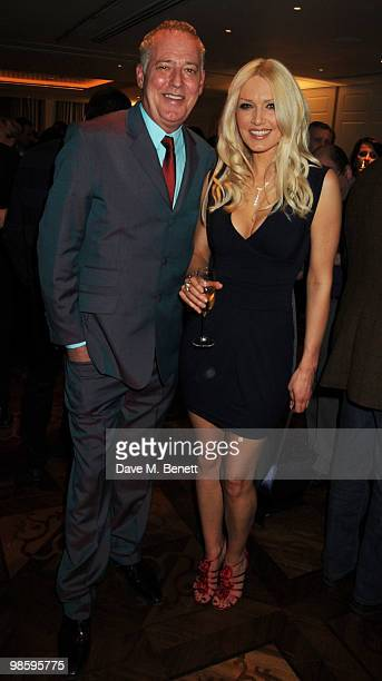 Michael Barrymore and Emma Noble attend the book launch party of Nicky Haslam's book 'Sheer Opulence' at The Westbury Hotel on April 21 2010 in...