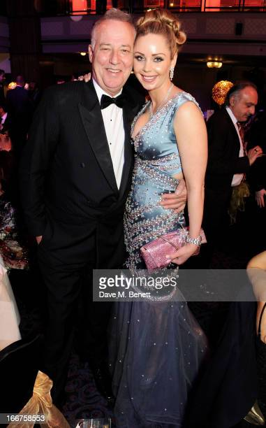 Michael Barrymore and Nina Naustdal attend The Asian Awards at The Grosvenor House Hotel on April 16 2013 in London England