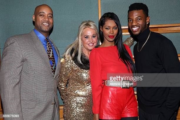 Michael Barsella President and Founder of Bonfun Spirits Gina de Franco model Jessica White and actor Jermaine Crawford attend PS Underground NYC...