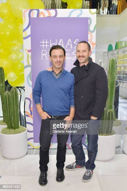 Michael Baum and Ryan Heffington attend Barneys New York Celebrates Haas for the Holidays Hosted by Matthew Mazzucca, Nikolai Haas and Simon Haas at...