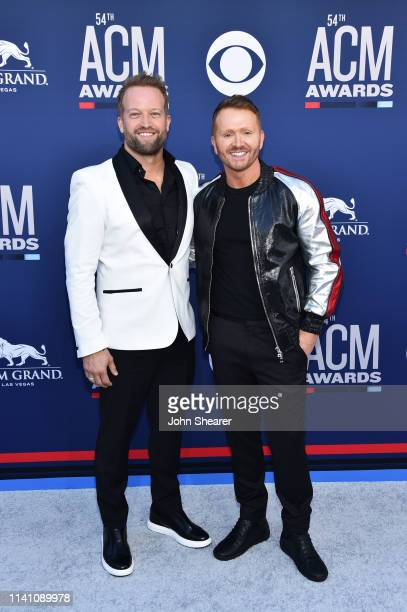 Michael Baum and Shane McAnally attend the 54th Academy Of Country Music Awards at MGM Grand Garden Arena on April 07, 2019 in Las Vegas, Nevada.