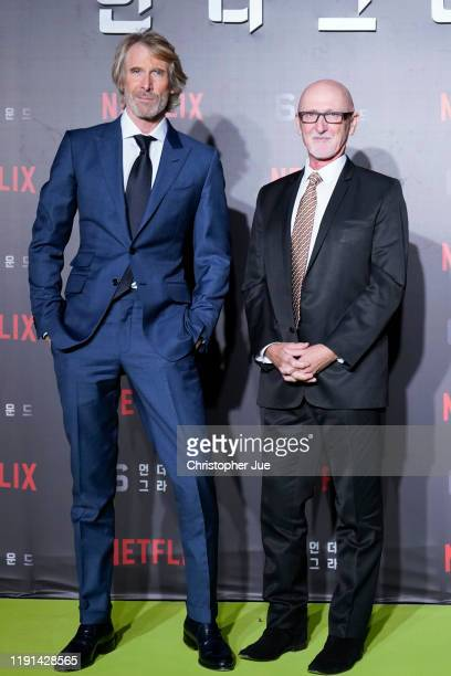 Michael Bay and Ian Bryce attend the world premiere of Netflix's '6 Underground' at Dongdaemun Design Plaza on December 02 2019 in Seoul South Korea