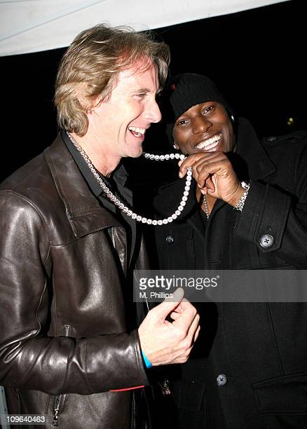 Michael Bay and Tyrese during Tyrese's DoubleAlbum 'Alter Ego' Release Party at Sunset Gower Studios Stage in Hollywood California United States