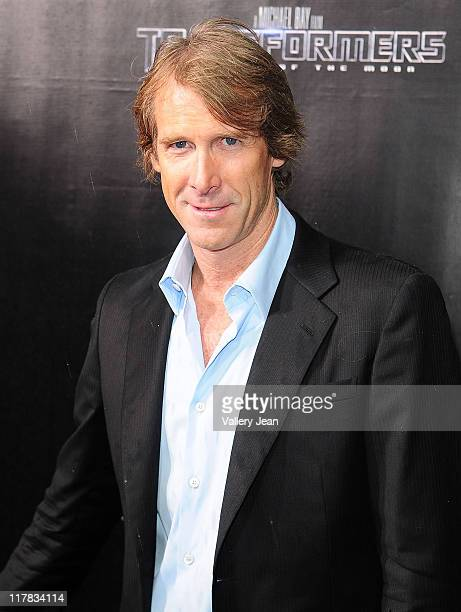 Michael Bay arrives at the red carpet VIP screening of 'Transformers Dark of the Moon' at Regal South Beach Cinema on June 30 2011 in Miami Beach...