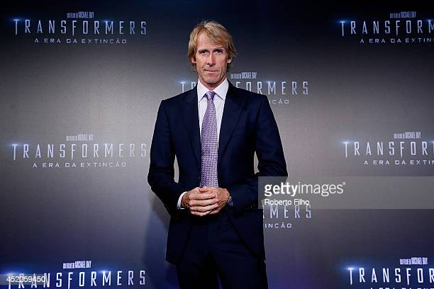 Michael Bay attends the premiere of Paramount Pictures Transformers Age of Extinction at Cinepolis Lagoon on July 16 2014 in Rio de Janeiro Brazil