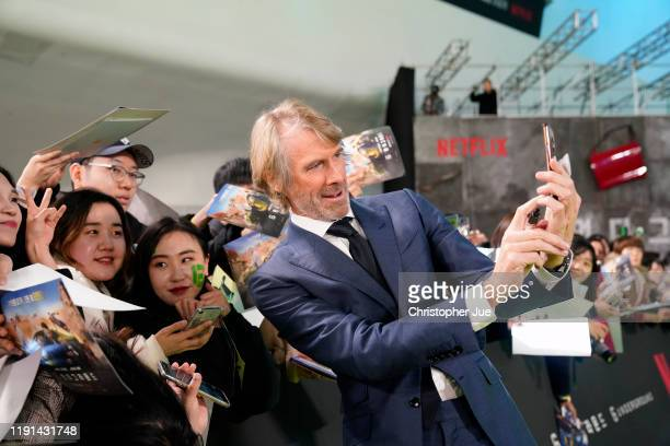 Michael Bay attends the world premiere of Netflix's '6 Underground' at Dongdaemun Design Plaza on December 02 2019 in Seoul South Korea
