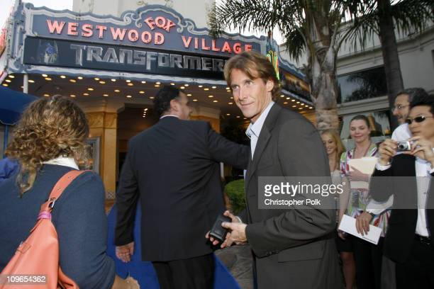 Michael Bay director during 'Transformers' Los Anglese Premiere Arrivals and After Party at Mann Village Theatre in Westwood California United States
