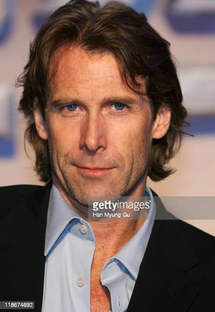 Michael Bay Director during Transformers Seoul Press Conferences and Photocall at N Seoul Tower in Seoul South Korea