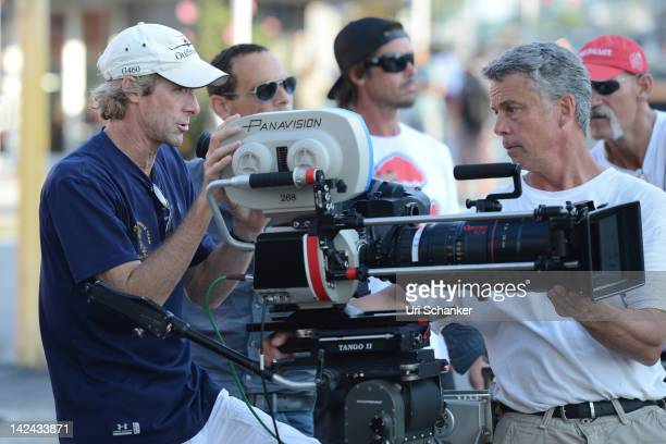Michael Bay is sighted on the set of Pain And Gain on April 4 2012 in Miami Florida