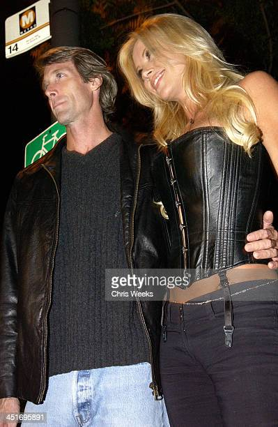 Michael Bay Lisa Dergan during Vivid Video and Flaunt Magazine's Halloween Bash at Vivid Video Studios in Beverly Hills CA United States