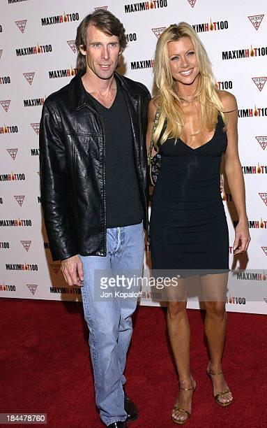 Michael Bay Lisa Sturgeon during Maxim Hot 100 Party Arrivals at Yamashiro in Hollywood California United States