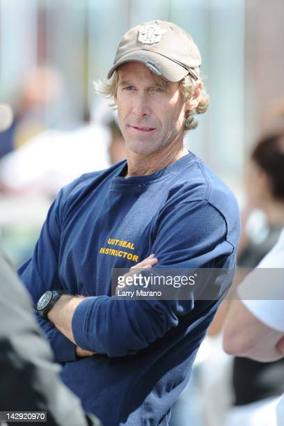 Michael Bay sighting on the set of 'Pain And Gain' on April 14 2012 in Miami Florida