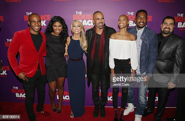 Michael Beach Denise Boutte Lindsay McCormick Shemar Moore Nadja Alaya and Bill Bellamy attend the premiere of Viva Pictures' 'The Bounce Back' at...
