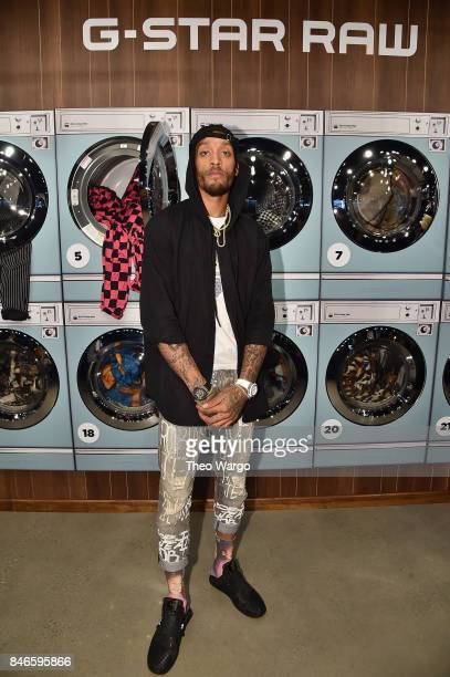 Michael Beasley attends the Pharrell Williams And GStar RAW Present The New GStar Elwood X25 Prints during New York Fashion Week Spring/Summer 2018...