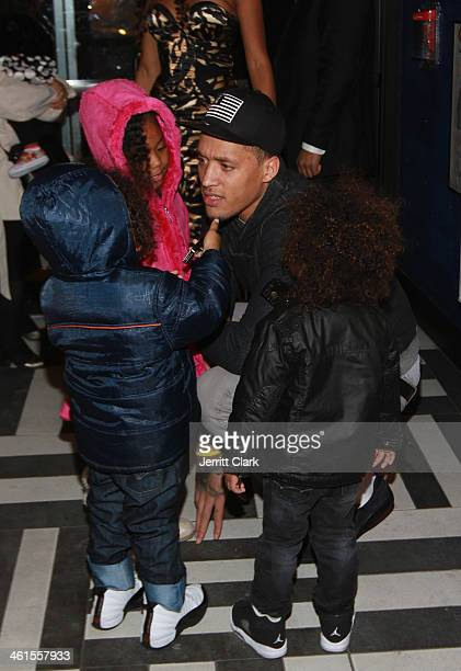 Michael Beasley celebrates his birthday with his kids at The General on January 7 2014 in New York City