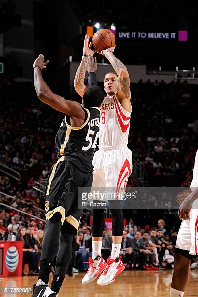 Michael Beasley of the Houston Rockets shoots the ball against Toronto Raptors on March 25 2016 at the Toyota Center in Houston Texas NOTE TO USER...