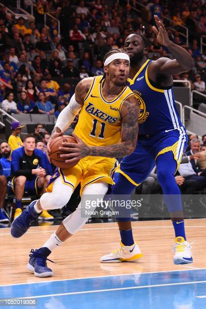 274b70727 Michael Beasley of the Los Angeles Lakers handles the ball against the  Golden State Warriors on