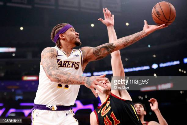 Michael Beasley of the Los Angeles Lakers shoots the ball against the Cleveland Cavaliers on January 13 2019 at STAPLES Center in Los Angeles...