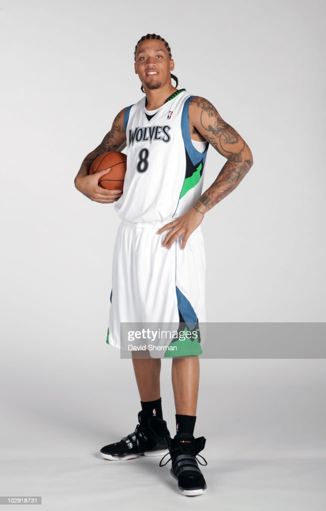 Michael Beasley #8 of the Minnesota Timberwolves poses for portraits on July 15, 2010 at the Target Center in Minneapolis, Minnesota.