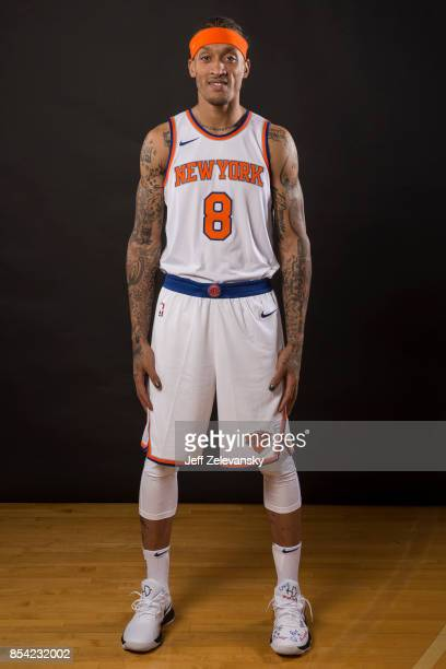 Michael Beasley of the New York Knicks is photographed at New York Knicks Media Day on September 25 2017 in Greenburgh New York