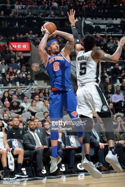 Michael Beasley of the New York Knicks shoots the ball against the San Antonio Spurs on December 28 2017 at the ATT Center in San Antonio Texas NOTE...