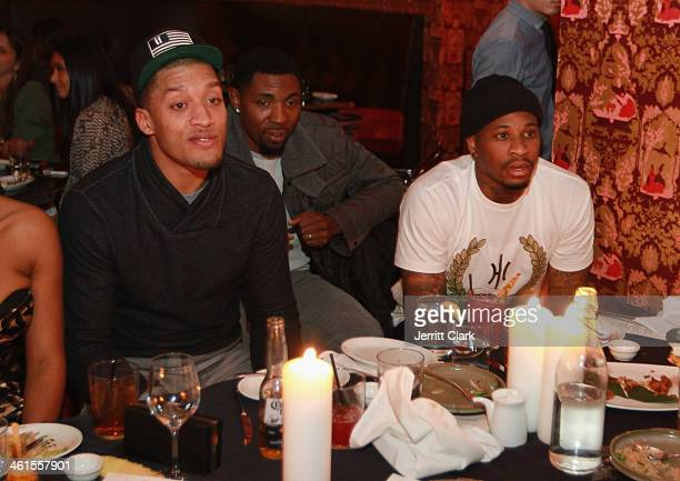Michael Beasley Roger Mason Jr and Bobby Maze attend Michael Beasley's birthday celebration at The General on January 7 2014 in New York City