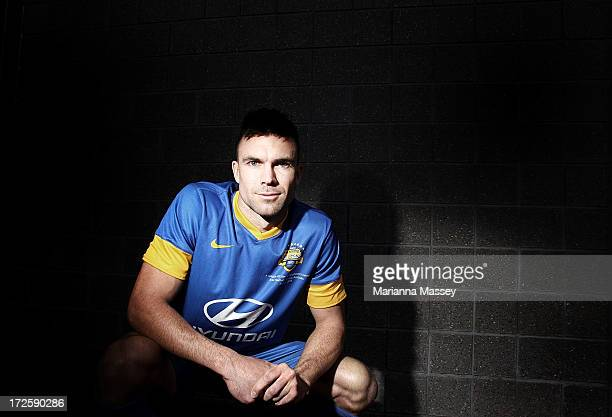 Michael Beauchamp poses for a portrait during the ALeague All Stars Player Announcement at ANZ Stadium on July 4 2013 in Sydney Australia