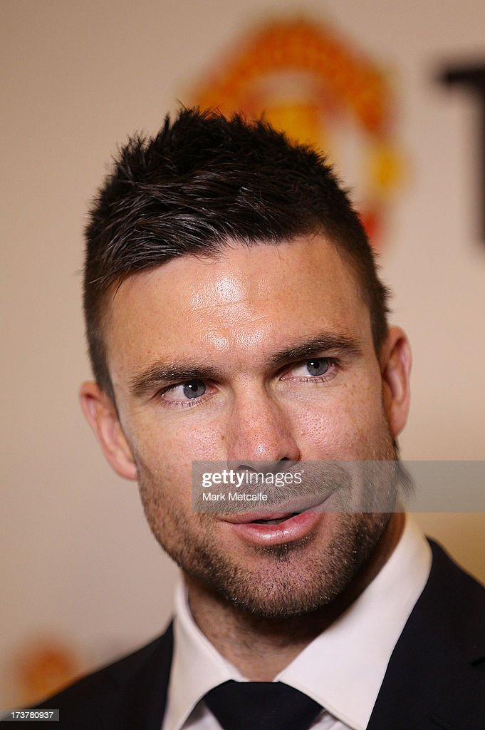 Michael Beauchamp speaks to the media during the official Manchester United official lunch at Westin Hotel on July 18, 2013 in Sydney, Australia.