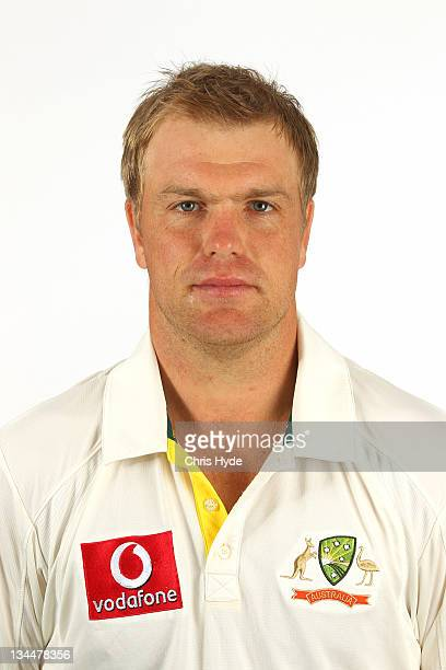 Michael Beer poses for a portrait during the official Australian Test cricket team headshots session on November 28 2011 in Brisbane Australia
