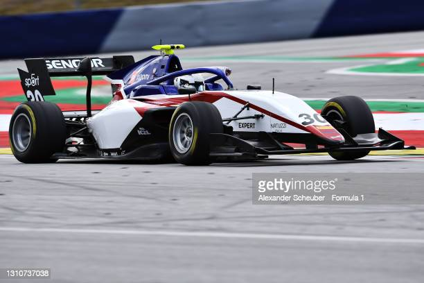 Michael Belov of Russia and Charouz Racing System drives during Day Two of Formula 3 Testing at Red Bull Ring on April 04, 2021 in Spielberg, Austria.