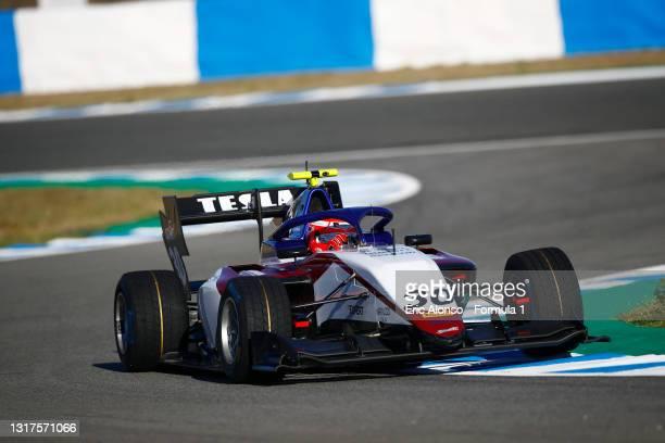 Michael Belov of Russia and Charouz Racing System drivesat Circuito de Jerez on May 12, 2021 in Jerez de la Frontera, Spain.