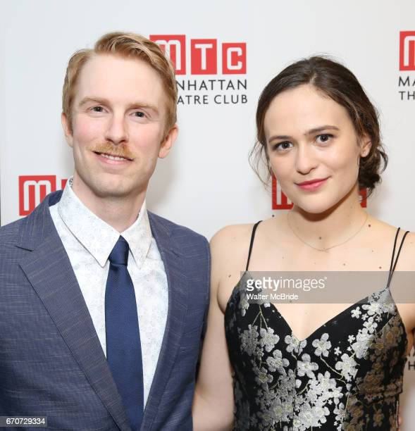 Michael Benz and Francesca Carpanini attending the Broadway Opening Night After Party for 'The Little Foxes' at the Copacabana on April 19 2017 in...