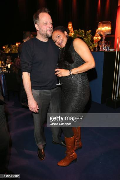 Michael Bernd Schmidt aka Singer Smudo Fanta 4 and his wife during the Goldene Kamera after show party at Messe Hamburg on February 22, 2018 in...