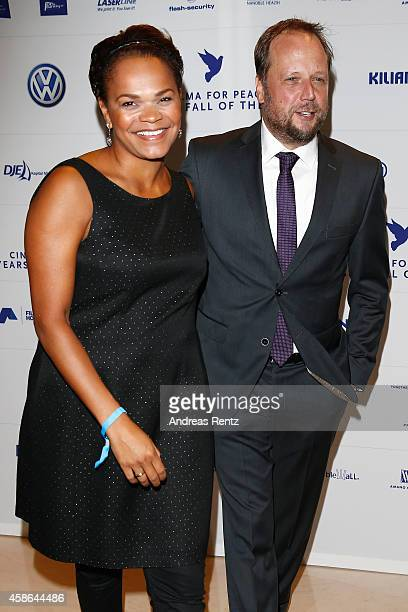Michael Bernd Schmidt aka Smudo and his wife Esther Schmidt attend the Cinema for Peace HEROES Gala at Hotel Adlon on November 8, 2014 in Berlin,...