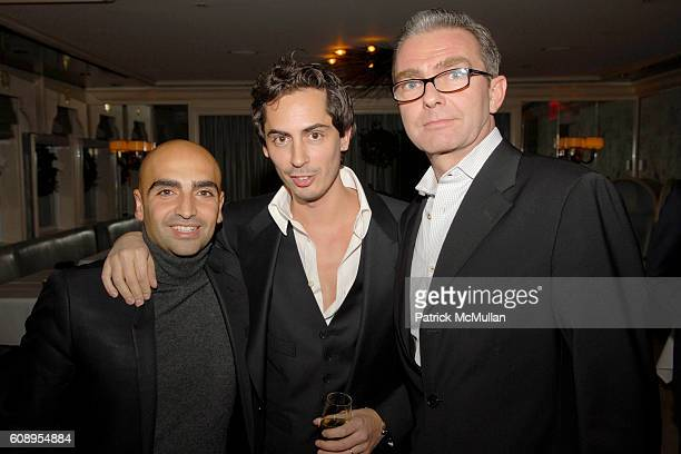 Michael Betito Kilan Hennessy and Marc Salmon attend AMANDA ROSS and KILIAN HENNESSY unveil L'OEUVRE NOIRE BY KILIAN at Bergdorf Goodman on November...