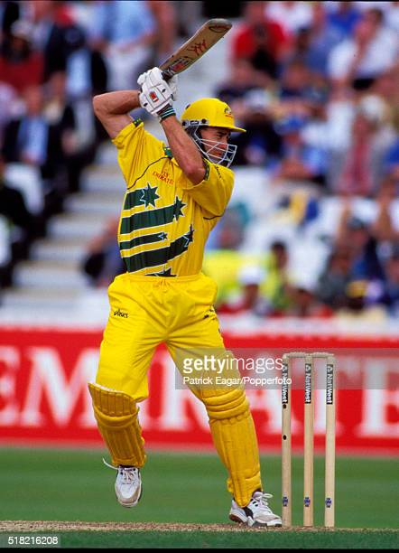 Michael Bevan of Australia batting during his innings of 65 runs in the ICC World Cup Semi Final between Australia and South Africa at Edgbaston...
