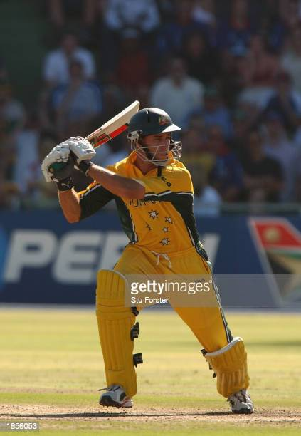 Michael Bevan of Australia in action during the ICC Cricket World Cup 2003, Pool A match between Australia and England held on March 2, 2003 at St...