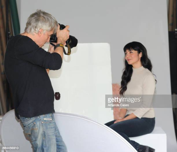 Michael Bezjian photographs Megan Harmon as she poses for portraits at A Day of Inspiration at TAP The Artists Project on November 30 2017 in Los...
