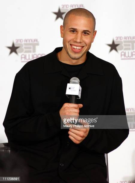 Michael Bibby of the Sacramento King during The 2nd Annual BET Awards Interview Room at The Kodak Theater in Hollywood California United States
