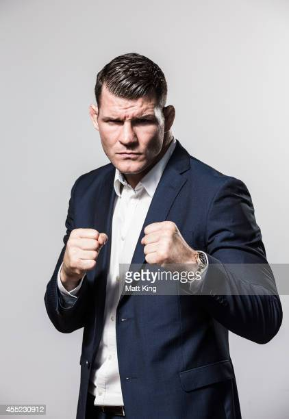 Michael Bisping poses during the UFC Fight Night Rockhold v Bisping Press Event at Museum of Contemporary Art on September 11 2014 in Sydney Australia