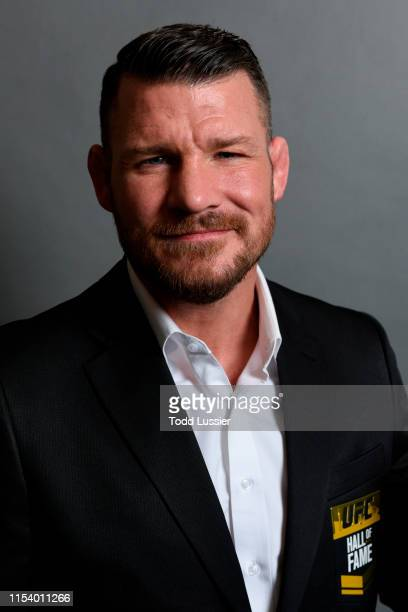 Michael Bisping poses for a portrait backstage after being inducted into the UFC Hall of Fame during the UFC Hall of Fame Class of 2019 Induction...