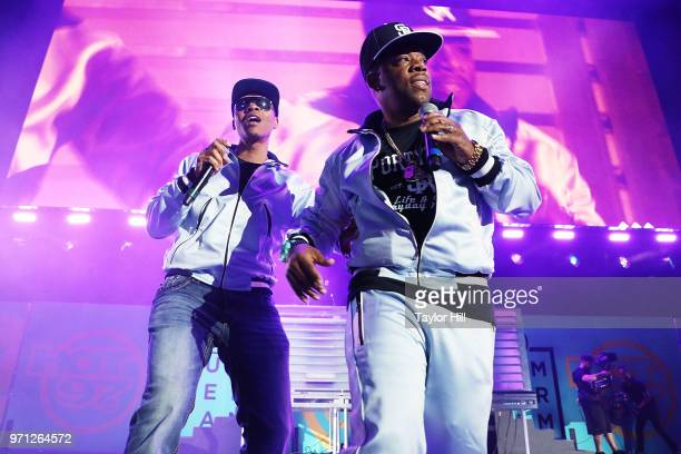 Michael Bivins and Ronnie DeVoe of Bell Biv DeVoe perform at MetLife Stadium on June 10 2018 in East Rutherford New Jersey