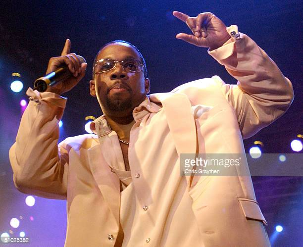 Michael Bivins of New Edition performs at the 10th Anniversary Essence Music Festival at the Superdome on July 4 2004 in New Orleans Louisiana