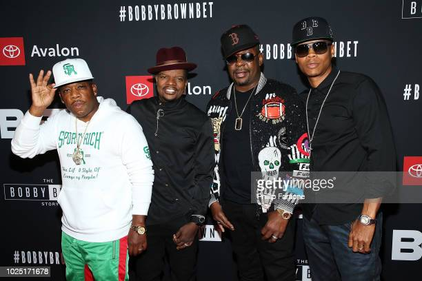 Michael Bivins Ricky Bell Bobby Brown and Ronnie Devoe attend BET and Toyota present the premiere screening of The Bobby Brown Story at Paramount...