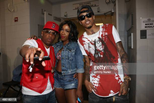 Michael Bivins Sevyn Streeter and August Alsina attend Hot 97 Summer Jam 2014 at MetLife Stadium on June 1 2014 in East Rutherford City