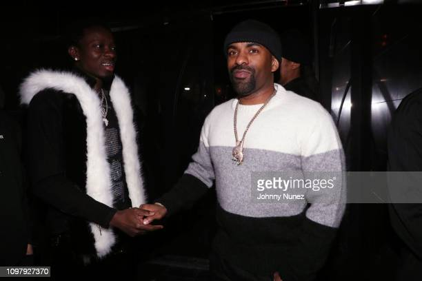 Michael Blackson and DJ Clue attend Church On Sundays Hosted By Nicki Minaj And Phil The Mayor And DJ Clues Birthday Party at The Argyle on February...