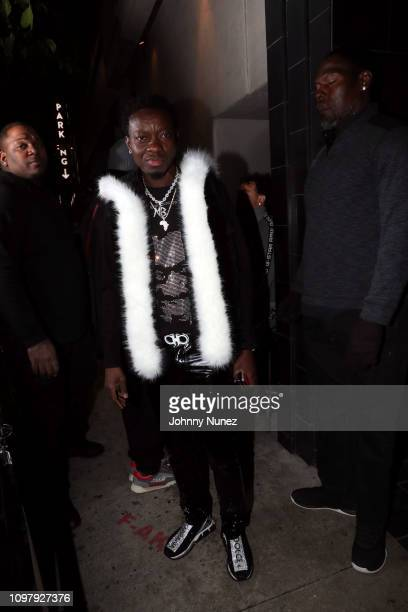 Michael Blackson attends Church On Sundays Hosted By Nicki Minaj And Phil The Mayor And DJ Clues Birthday Party at The Argyle on February 8 2019 in...