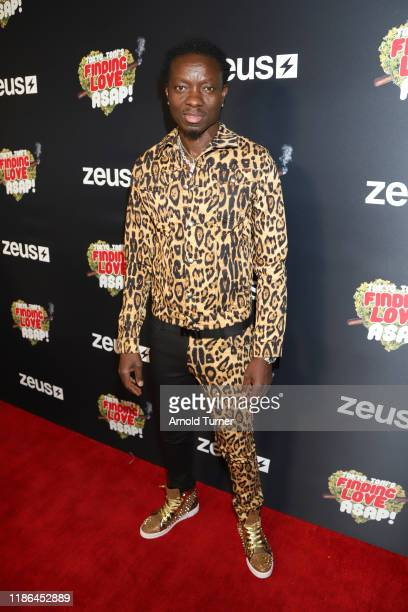 Michael Blackson attends Tokyo Toni's Finding Love ASAP Los Angeles premiere at AMC Theaters Universal City Walk on November 08 2019 in Universal...
